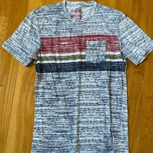 American Rag Space Dyed Stripe Casual Pocket Tee S